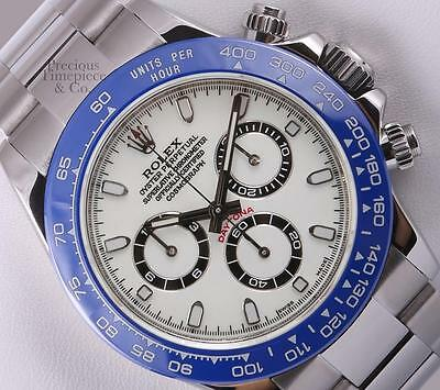 $ CDN27859.50 • Buy Rolex Mens Daytona 116520 Stainless Steel 40mm Watch-White Dial-Blue Ceramic