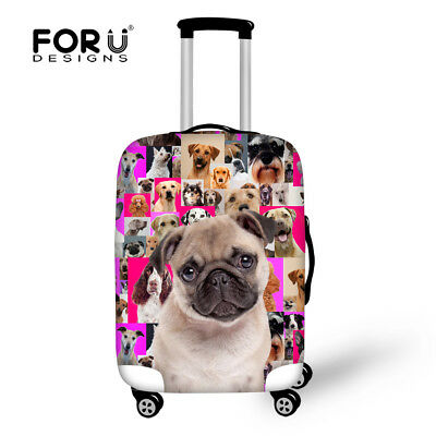College Animals Pug Travel Luggage Cover Trolley Suitcase Case Protective Cover • 17.99£