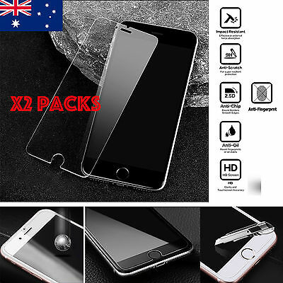 AU7.99 • Buy X2 Tempered Glass Screen Protector For IPhone SE2 12 11Pro XR Xs Max 5 6 7 8+