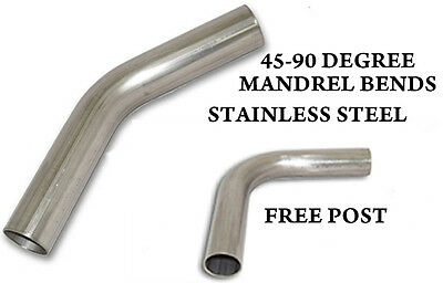 Stainless Steel Exhaust Mandrel Bends Elbows 45 90 Degree  Sizes 38mm -76mm • 12.30£