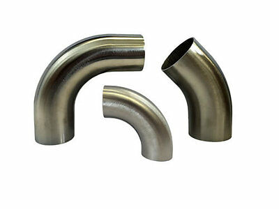 Heavy Duty Stainless Steel 45 - 90 Degree Elbows 1d Tight Radius Exhaust Section • 18.50£