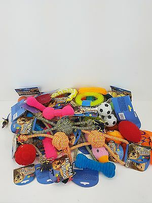 Bulk Pack Assorted Pet Dog Squeaky Chew Rope Ball Rubber Fetch Toys • 9.99£