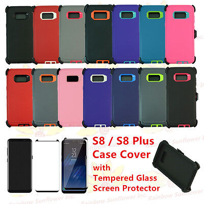$ CDN16.35 • Buy For Samsung Galaxy S8 / S8 Plus Defender Rugged Case Cover (Clip Fits Otterbox)