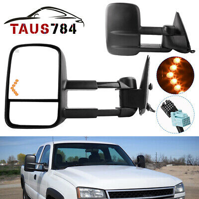 $111.80 • Buy Power Heated LED Signals Tow Mirrors For 03-06 Chevy Silverado 1500/2500/HD/3500