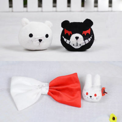 $ CDN16.12 • Buy New Anime Dangan Ronpa Enoshima Junko Mono Kuma Bear Hairpin Rabbit Hair Clip