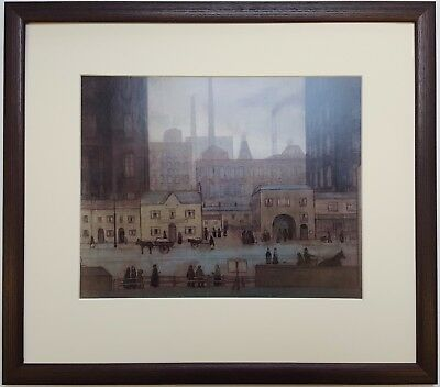 L.S Lowry COMING FROM THE MILL 1917-18 Framed Print • 22£
