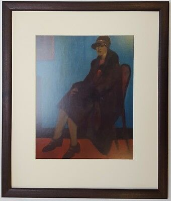 L.S Lowry WOMAN IN A CHAIR, 1921 & 1956 Framed Print • 22£