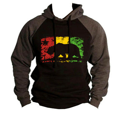 New Men/'s California Flag Print Pocket Black Pullover Hoodie PLY P5 Cali Bear CA