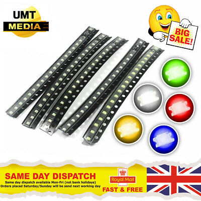 $1.37 • Buy SMD/SMT LED's - 0402, 0603, 0805, 1206 - Red, Blue, Green, White, Orange, Yellow