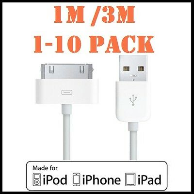 AU5.89 • Buy 1-10pcs USB Data Charger Cable For Apple IPhone 4S 4 3GS IPod Touch IPad 2 3