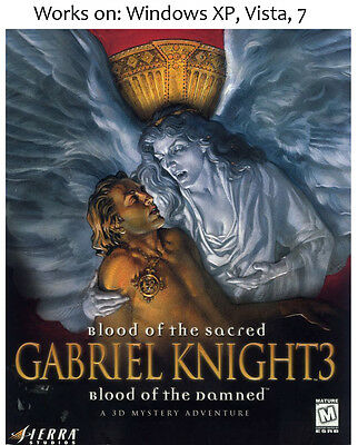 AU22 • Buy Gabriel Knight 3 Blood Of The Sacred Blood Of The Damned PC Game Win XP Vista 7