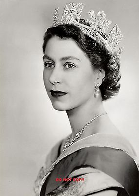 Hm Queen Elizabeth Ii 1952 A4 Glossy Photo Poster Print Royal Family Queen • 3.99£