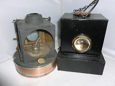 Vintage British Rail Signal Lamps/lanterns X 2 • 99.95£