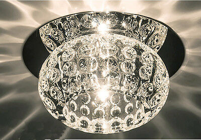 £11.99 • Buy ROUND - 3w/5w Crystal LED Ceiling Chandelier Spotlight Downlight Warm/Cool White