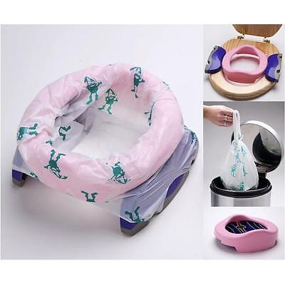 £16.95 • Buy Potette Plus Portable Kids Travel Potty & Toilet Seat +3 Liners +Carry Bag PINK
