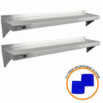£139.99 • Buy 2 X Commercial Catering Stainless Steel Shelves Kitchen Wall Shelf Metal 1500mm