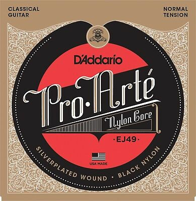 $ CDN14 • Buy D'Addario EJ49 Pro-Arté Black Nylon Normal Tension Classical Guitar Strings