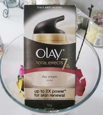 AU26.99 • Buy Olay Total Effects 7 In One Day Cream Normal 50g Up To 2x Power For Skin Renewal