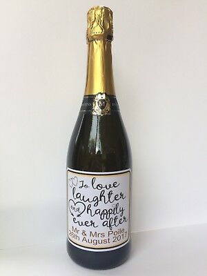 £2.30 • Buy Personalised Gift Wedding Or Anniversary Wine/Prosecco/Champagne Sticker/label