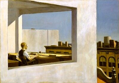 £7.01 • Buy Edward Hopper Office In A Small City Canvas Print Giclee 8X12&12X17 Reproduction