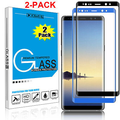 $ CDN4.44 • Buy 1/2X For Samsung Galaxy Note 8 Tempered Glass Full Cover 3D Screen Protector