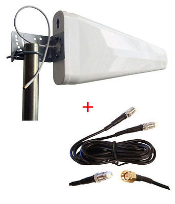 AU99.75 • Buy Huawei B525 B525s 4G LTE Router Wide Band Log Periodic Yagi Antenna 700-2700MHz