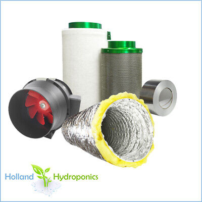 AU259.95 • Buy 6  FILTAROO CARBON FILTER + GROFAN + ACOUSTIC DUCTING + TAPE Ventilation Kit