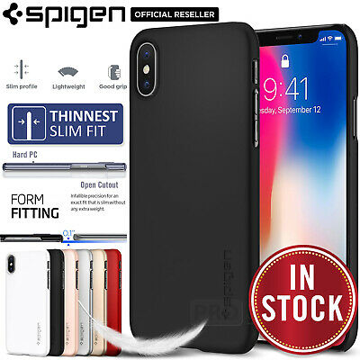 AU19.99 • Buy Genuine SPIGEN Ultra Slim Thin Exact Fit Hard Cover For Apple IPhone X Case