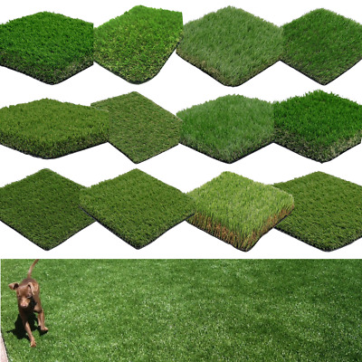 £0.99 • Buy Artificial Grass Cheap Samples 7mm - 40mm Thick Realistic Fake Lawn Astro Turf