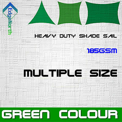 AU132 • Buy Outdoor Sun Shade Sail - Green Colour Triangle Square Rectangle Canopy 185gsm