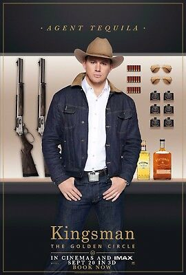 £14.51 • Buy Kingsman The Golden Circle Movie Poster (24x36) - Channing Tatum, Tequila V14