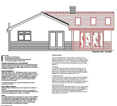 Updated For 2020 - Single Storey Extension Cad Plans - Planning & Building Regs • 9.99£
