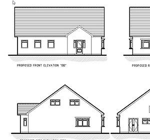 Updated For 2020 - New Bungalow Cad Plans - Planning & Building Regulations • 9.99£