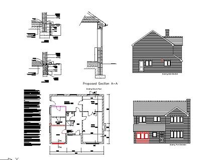 Updated For 2020 - Garage Conversion Cad Plans - Planning & Building Regulations • 9.99£