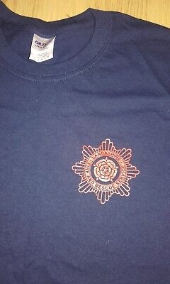 LANCASHIRE FIRE BRIGADE T-SHIRT - All Sizes Available RED ROSE FIRE FIGHTER • 8.99£
