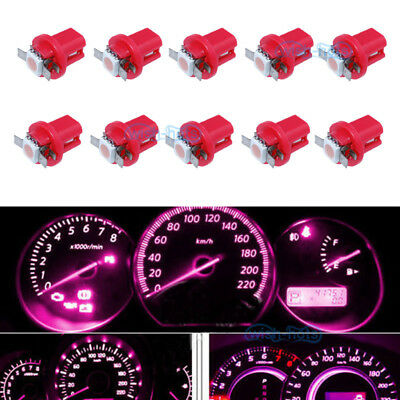 $ CDN9.62 • Buy 10Pcs Pink B8.5D 1-5050-SMD LED Dashboard Cluster Panel Lights Lamp For Benz