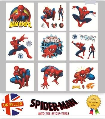 £2.99 • Buy 12 Childrens Spiderman Temporary Tattoos Kids Loot Party Bag Fillers Boys Girls