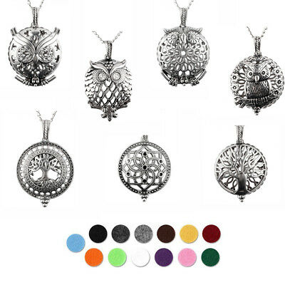 $ CDN2.21 • Buy Diffuser Locket Aromatherapy Essential Oil Perfume Magnetic Pendant Necklace