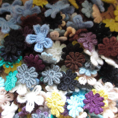 Mixed TINY COTTON 10-14mm Guipure Lace Daisy Motifs Sew On Flower Appliques • 2.85£