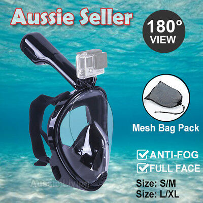 AU34.95 • Buy Full Face Diving Seaview Snorkel Snorkeling Mask Swimming Goggles For GoPro AU