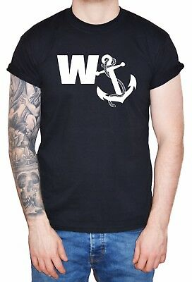 Funny Men's T-Shirt  W Anchor  Man Boy Lad's Holiday Stag Do Gift Tee • 10.99£