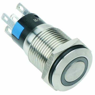 £3.99 • Buy Red LED 16mm Latching Vandal Resistant Push Switch 3A SPDT