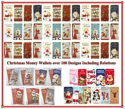 Christmas Money Wallet Relation Card Gift Voucher Traditional Buy 4 Get 1 FREE • 1.39£