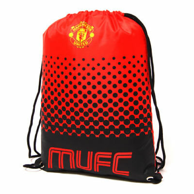 Manchester United Fc Man Utd Fade Gym Bag School Pe Swimming Sport New Xmas Gift • 7.75£