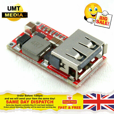 £2.95 • Buy 6-24V Input To 5V 2A Output USB Charger Module DC-DC Buck Step-Down Converter