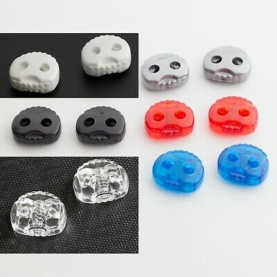 Plastic Pig Nose Toggle Spring Clasp Stop Oval Double Hole String  Fits 5mm Cord • 1.49£