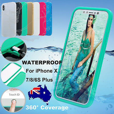 AU12.99 • Buy Waterproof Dirtproof Shockproof Thin Tough Case Cover For IPhone X 7 8 Plus 6S 5