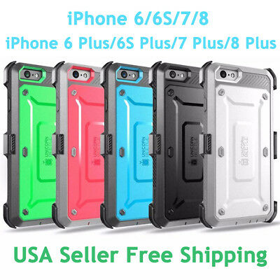 SUPCASE For IPhone 6/6S/7/8/8 Plus Unicorn Beetle Pro Fully Rugged Holster Case • 12.15£