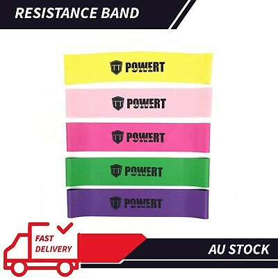 AU3.51 • Buy 6 SET Heavy Duty POWER YOGA RESISTANCE BANDS LOOP Fitness Gym  Exercise Workout