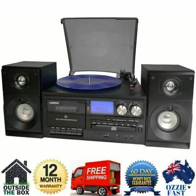 AU588.96 • Buy Stereo System Turntable Vinyl Record Player USB CD MP3 W/ Dual Cassette Recorder